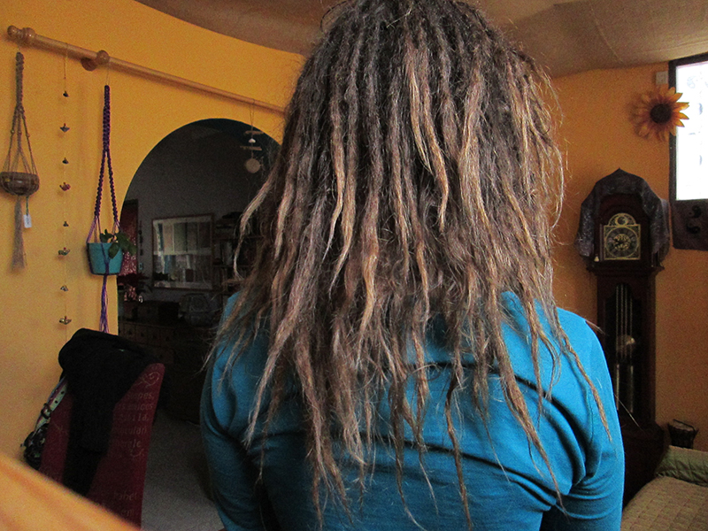 Month 13 of growing freeform dreadlocks