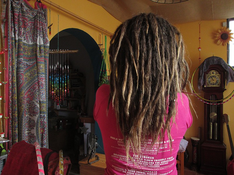 Growing free form dreadlocks 2 years 8 months later